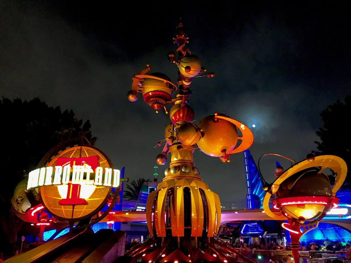 Tomorrowland entrance at Disneyland