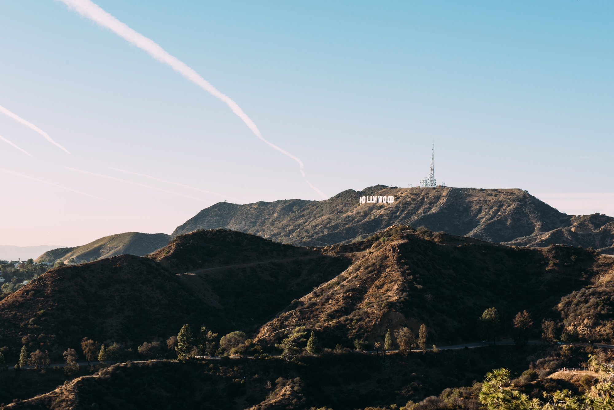 View from Griffith Observatory of the Hollywood sign
